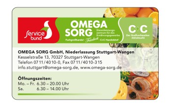 klein Kundenkarte OMEGA Sorg