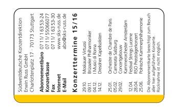 Mitgliedskarte SKS Rückseite
