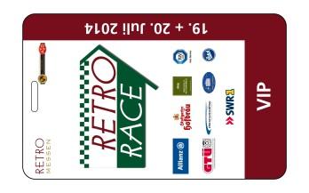 klein VIP-Karte Retro Race